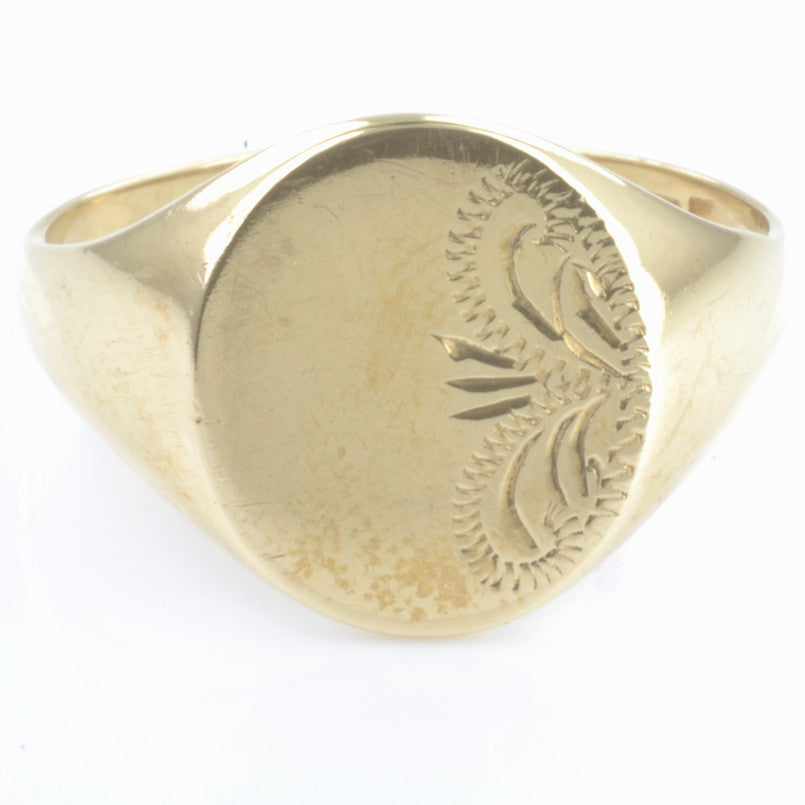 9ct Yellow Gold Signet Ring