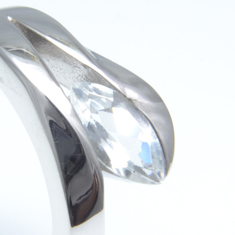 So Jewellery Silver and White Topaz Dress Ring