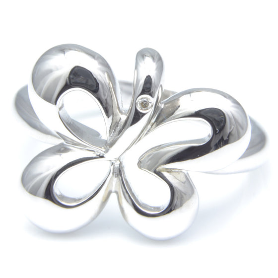 So Jewlellery Silver and Diamond Dress Ring