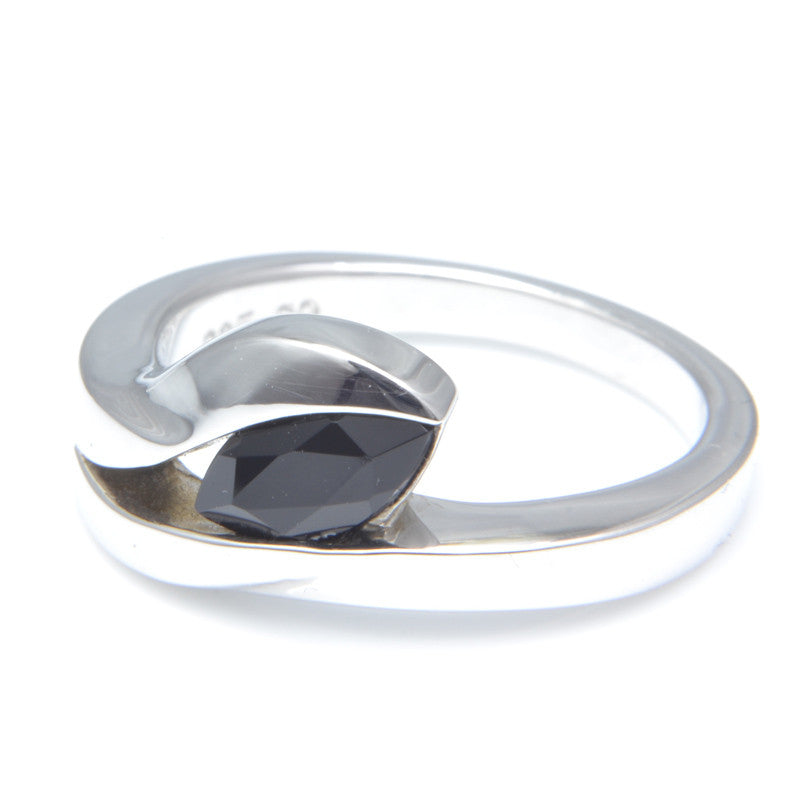 So Jewellery Silver and Black Onyx Ring