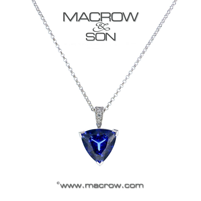 18ct white gold tanzanite pendant macrow and son 18ct white gold tanzanite pendant mozeypictures Choice Image
