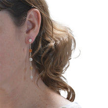 Load image into Gallery viewer, Acacia silver drop earrings