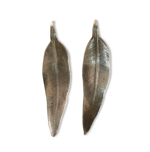Gumleaf silver earrings