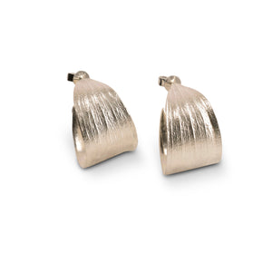 Melaleuca silver hoop earrings