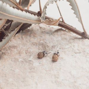 Acacia Silver Stud earrings