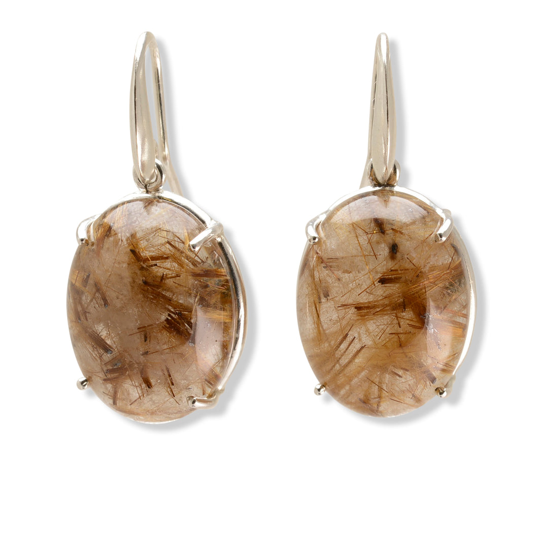Golden Rutilated Quartz Earrings