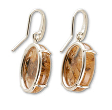Load image into Gallery viewer, Golden Rutilated Quartz Earrings