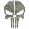 AIR FORCE DIGITAL CAMO PUNISHER SKULL REAR HELMET REFLECTIVE HELMET DECAL