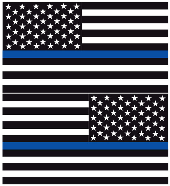 Various Sizes Thin Blue Line Decal American Flag REFLECTIVE THANK YOU
