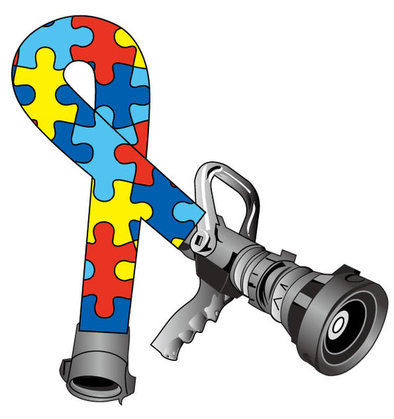 AUTISM AWARENESS PUZZLE PIECES HOSE RIBBON HELMET DECAL