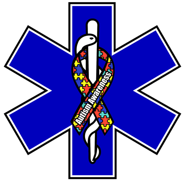 AUTISM AWARENESS STAR OF LIFE WINDOW DECAL