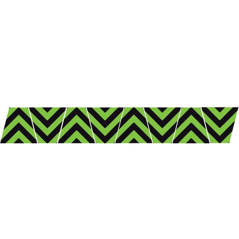 BLACK/GREEN CHEVRON STRIPE REFLECTIVE HELMET (TET) TETRAHEDRON 8 PACK