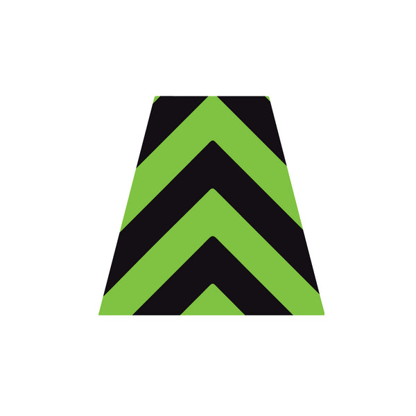 BLACK AND GREEN CHEVRON REFLECTIVE HELMET (TET) TETRAHEDRON