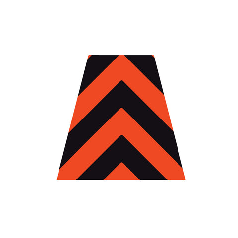 BLACK AND ORANGE CHEVRON REFLECTIVE HELMET (TET) TETRAHEDRON