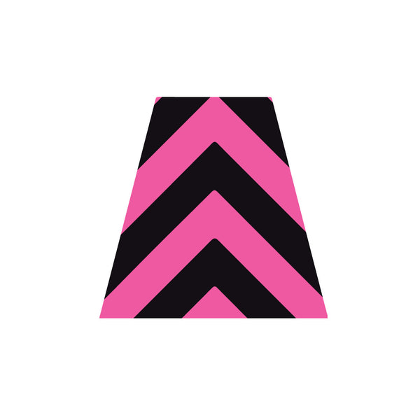 BLACK AND PINK CHEVRON REFLECTIVE HELMET (TET) TETRAHEDRON