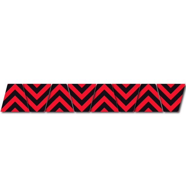 BLACK/RED CHEVRON STRIPE REFLECTIVE HELMET (TET) TETRAHEDRON 8 PACK