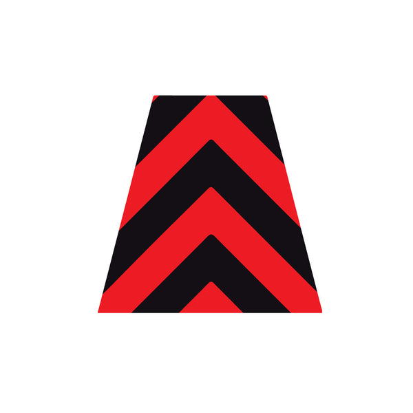 BLACK AND RED CHEVRON REFLECTIVE HELMET (TET) TETRAHEDRON