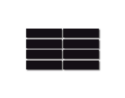 BLACK REFLECTIVE HELMET BAR 8 PACK