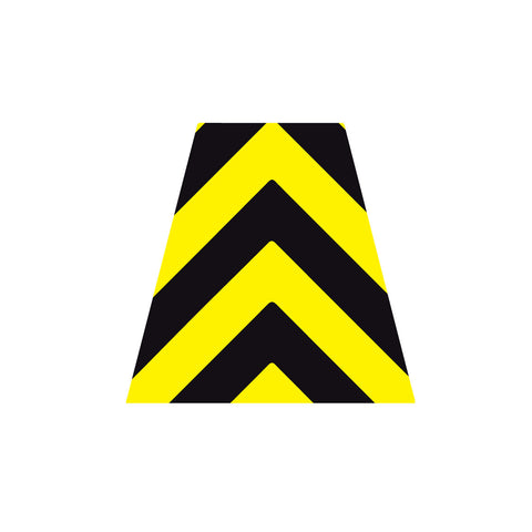 BLACK AND YELLOW CHEVRON REFLECTIVE HELMET (TET) TETRAHEDRON