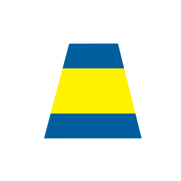 BLUE AND YELLOW TRIPLE STRIPE REFLECTIVE HELMET (TET) TETRAHEDRON