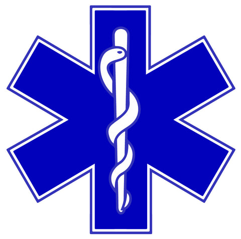 BLUE STAR OF LIFE REFLECTIVE WINDOW DECAL