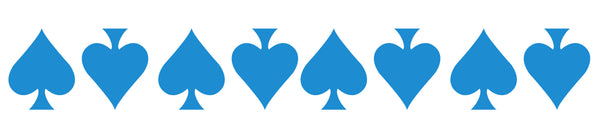 BLUE REFLECTIVE ACE OF SPADE HELMET DECAL 8 PACK