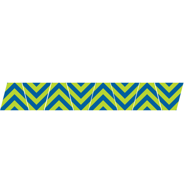 BLUE/LIME GREEN CHEVRON STRIPE REFLECTIVE HELMET (TET) TETRAHEDRON 8 PACK