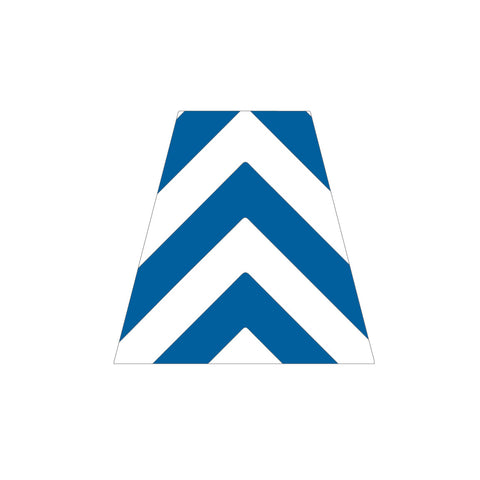 BLUE AND WHITE CHEVRON REFLECTIVE HELMET (TET) TETRAHEDRON