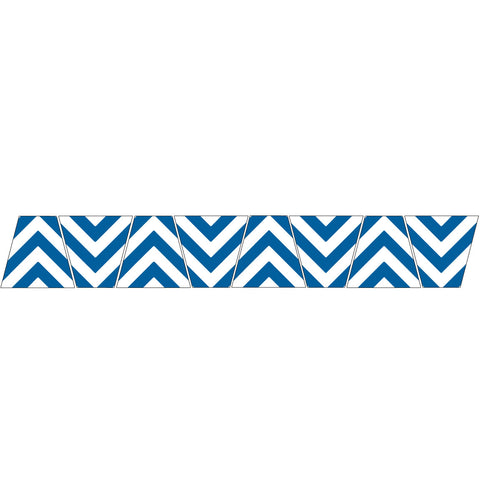 BLUE/WHITE CHEVRON STRIPE REFLECTIVE HELMET (TET) TETRAHEDRON 8 PACK