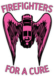BREAST CANCER FIREFIGHTERS FOR A CURE ANGEL WING SCBA HELMET DECAL