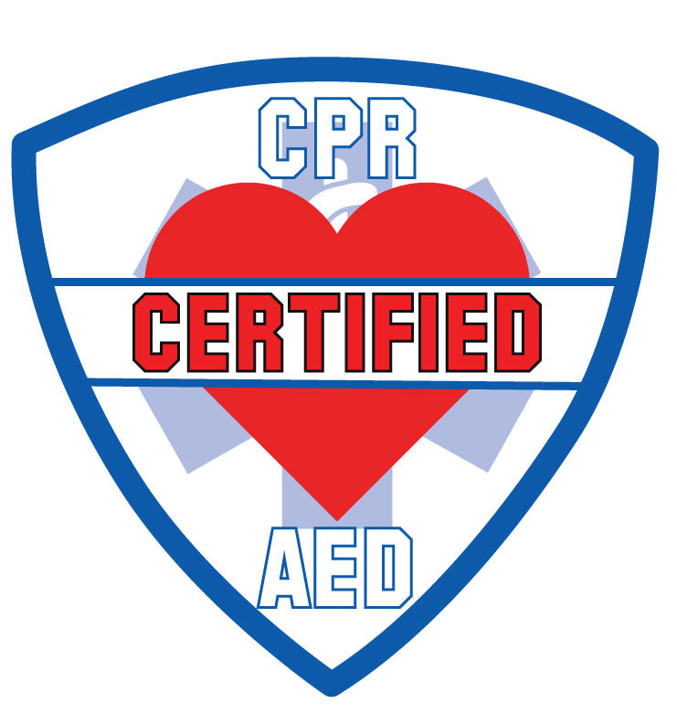 Cpr Aed Certified Helmet Decal Police Fire Ems Viny Graphics