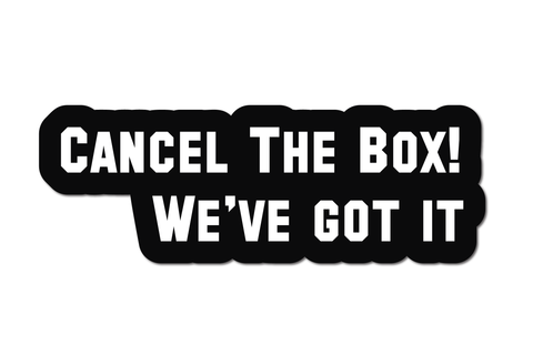 CANCEL THE BOX! WE'VE GOT IT HELMET DECAL