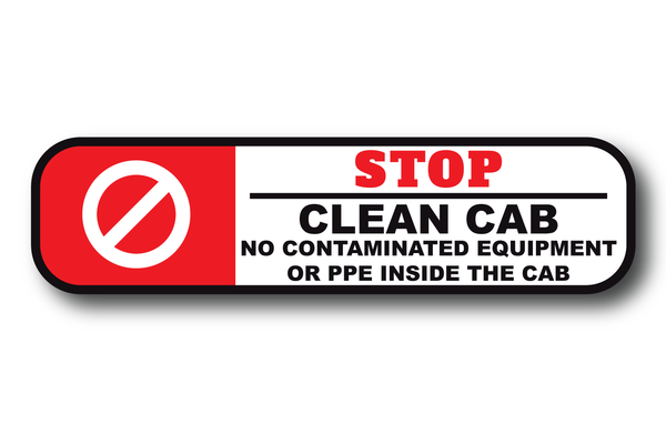 CLEAN CAB APPARATUS REFLECTIVE DECAL