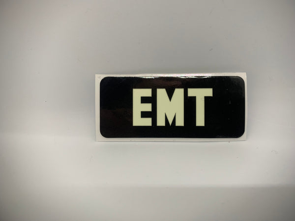 EMT REFLECTIVE GLOW IN THE DARK HELMET DECAL