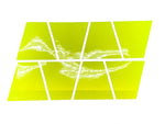 RETRO FLUORESCENT YELLOW REFLECTIVE HELMET (TET) TETRAHEDRON 8 PACK