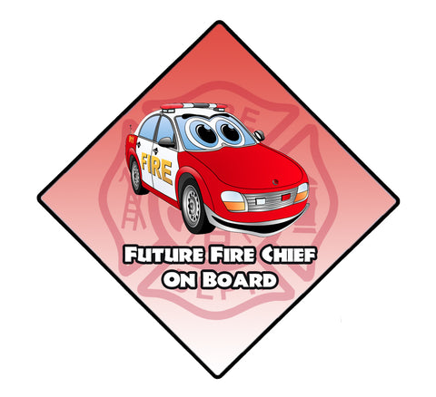 FUTURE FIRE CHIEF ON BOARD WINDOW DECAL
