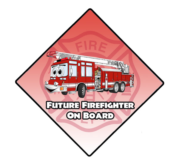 FUTURE FIREFIGHTER ON BOARD WINDOW DECAL
