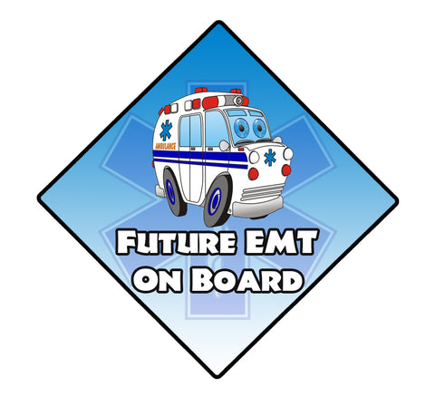 FUTURE EMT ON BOARD WINDOW DECAL