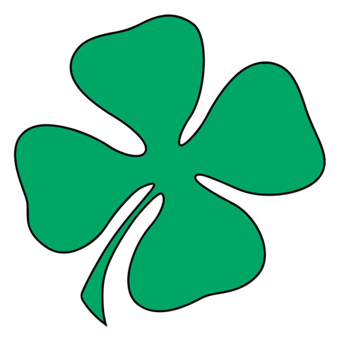 GREEN SHAMROCK HELMET DECAL