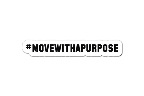 #MOVEWITHAPURPOSE HELMET DECAL