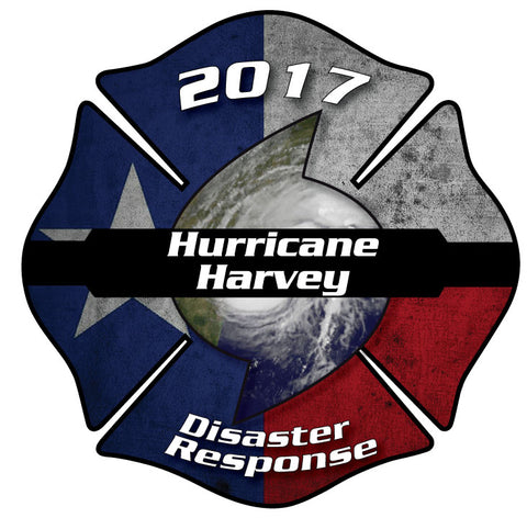 HURRICANE HARVEY DISASTER RESPONSE MALTESE CROSS WINDOW DECAL