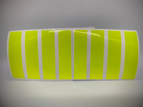 RETRO FLUORESCENT YELLOW REFLECTIVE HELMET BAR 8 PACK