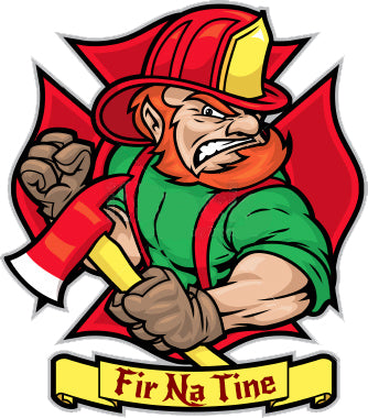 IRISH FIREFIGHTER WINDOW DECAL