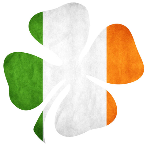 IRISH FLAG SHAMROCK HELMET DECAL