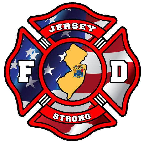 JERSEY STRONG FIREFIGHTER WINDOW DECAL