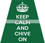 KEEP CALM AND CHIVE ON REFLECTIVE HELMET (TET) TETRAHEDRON