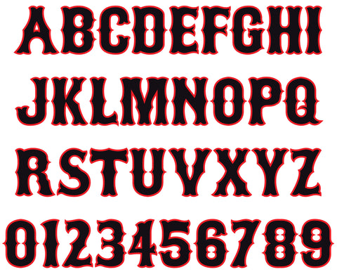 MLB Tuscan Reflective Letters & Numbers