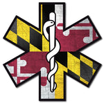 MARYLAND FLAG STAR OF LIFE REFLECTIVE HELMET DECAL