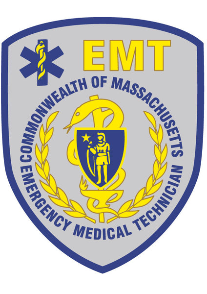 MASSACHUSETTS (MA) EMERGENCY MEDICAL TECHNICIAN (EMT) PATCH WINDOW DECAL
