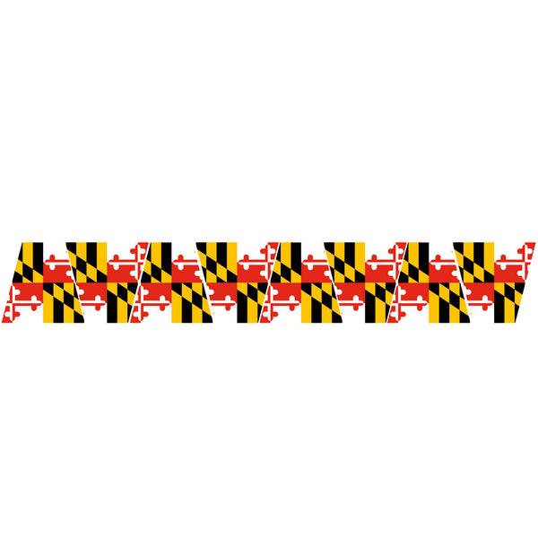 MARYLAND FLAG REFLECTIVE HELMET (TET) TETRAHEDRON 8 PACK
